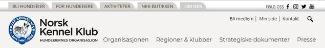 Om NKK, skjermbilde
