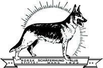 Logo norsk schäferhundklubb